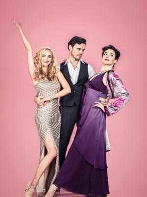 Jayne with Kiss Me Kate co-stars Norman Bowman and Melle Stewart