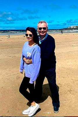 Eamonn Holmes at Portstewart beach with daughter Rebecca.