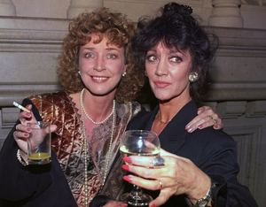 Pals: with fellow star, the late Anne Kirkbride in 1991