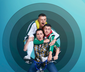 Chris Walley, Hilary Rose and Alex Murphy in The Young Offenders