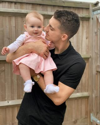 Max Whitlock with baby Willow