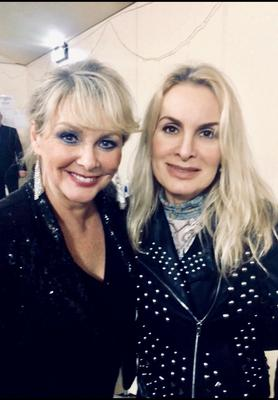 Jay with Bucks Fizz pal Cheryl Baker