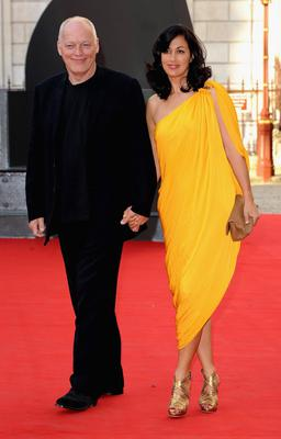 Polly with husband Dave Gilmour