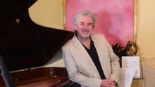 Barry Douglas OBE classical pianist and conductor pictured at his home in Lurgan, Northern Ireland.