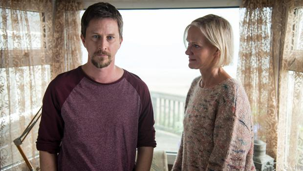 Crime drama: with co-star Lee Ingleby in Innocent