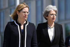Home Secretary Amber Rudd with Prime Minister Theresa May