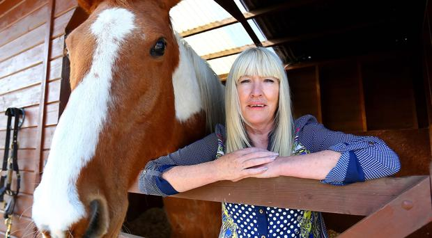 Moyra Donaldson with her horse Skew-Whiff, aged 20