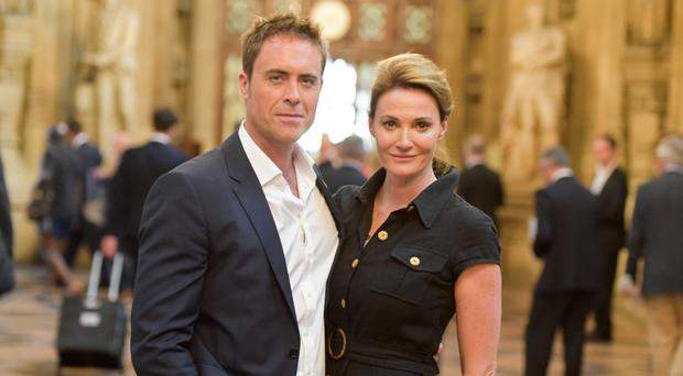 Actress Sarah Parish with her husband James Murray, who are both raising funds for charity