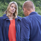 Claire Goose and Matt Bardock, who play Coroner Jane Kennedy and Detective Sergeant Davey Higgins in The Coroner