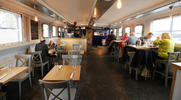 The interior of the popular Holohans at the Barge, whose proximity to the Waterfront Hall and the new exhibition centre should prove a big advantage