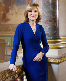 Industry veteran: Fiona Bruce has been a journalist for over 30 years