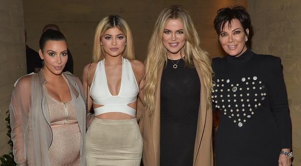 Sister Act: Khloe (second from right) with Kim Kardashian, Kylie Jenner and Kris Jenner