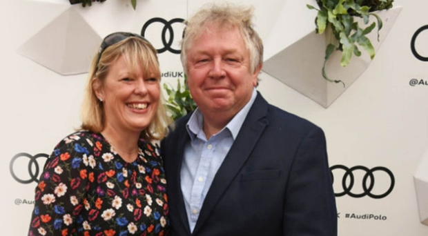 ALL SMILES: Nick Ferrari with his girlfriend Clare Patterson