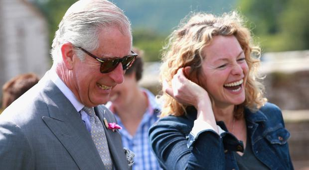 Busy lady: television presenter Kate Humble with Prince Charles