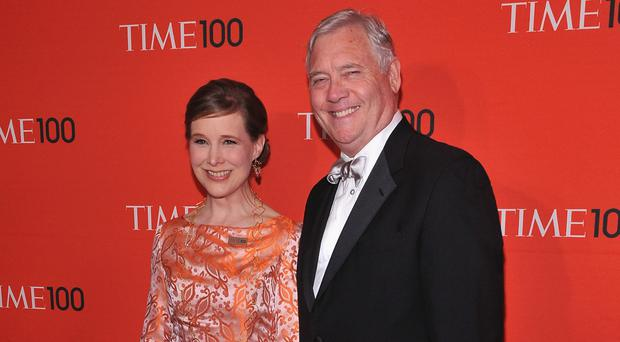 Happy life: American author Ann Patchett with husband Karl VanDevender