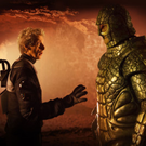 Who's next?: The Doctor (Peter Capaldi) and Friday (Richard Ashton)