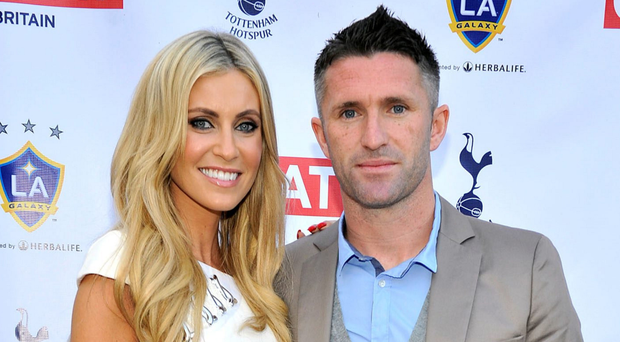 Loved up: Robbie and Claudine Keane