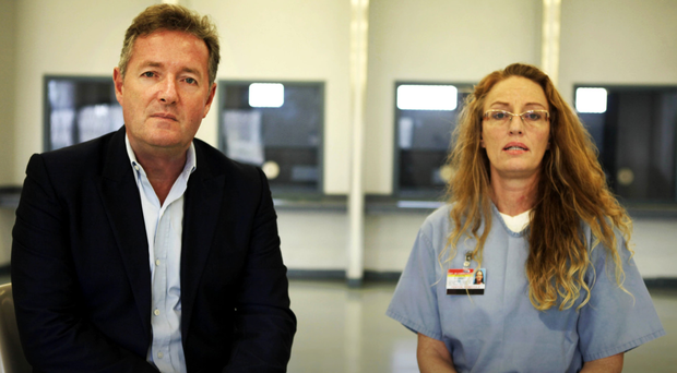 Inside story: Piers and Rebecca Fenton at the Lowell Correctional Institution in Florida