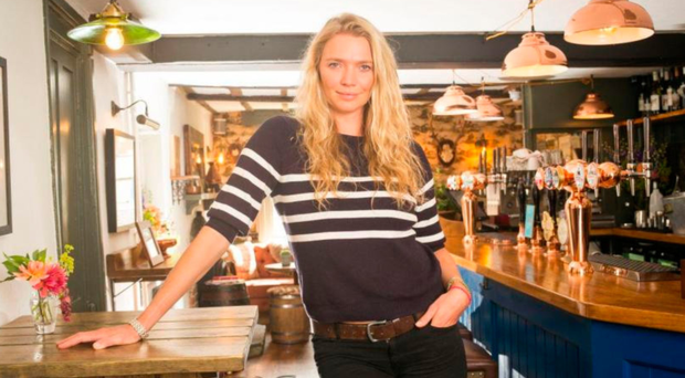 TABLES TURNED: Jodie Kidd in The Half Moon pub