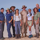 ISLAND LIFE: contestants Ryan Thomas, Lucy Mecklenburgh, Jordan Stephens, Sara Kayat, RJ Mitte, Melody Thornton, Shazia Mirza, Iwan Thomas, Sharron Davies and Mark Watson