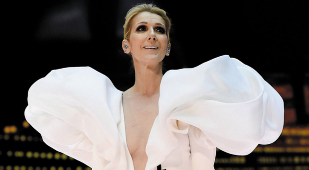 COUTURE QUEEN: Celine Dion on stage