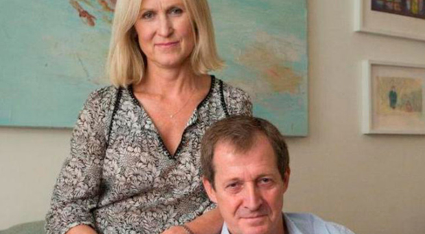 Alastair Campbell and his partner Fiona Millar, who worked formerly as an adviser to Cherie Blair, wife of Prime Minister Tony Blair