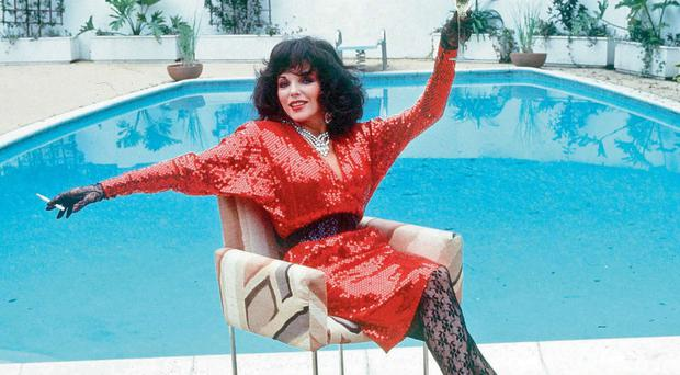 Joan Collins home in 1983