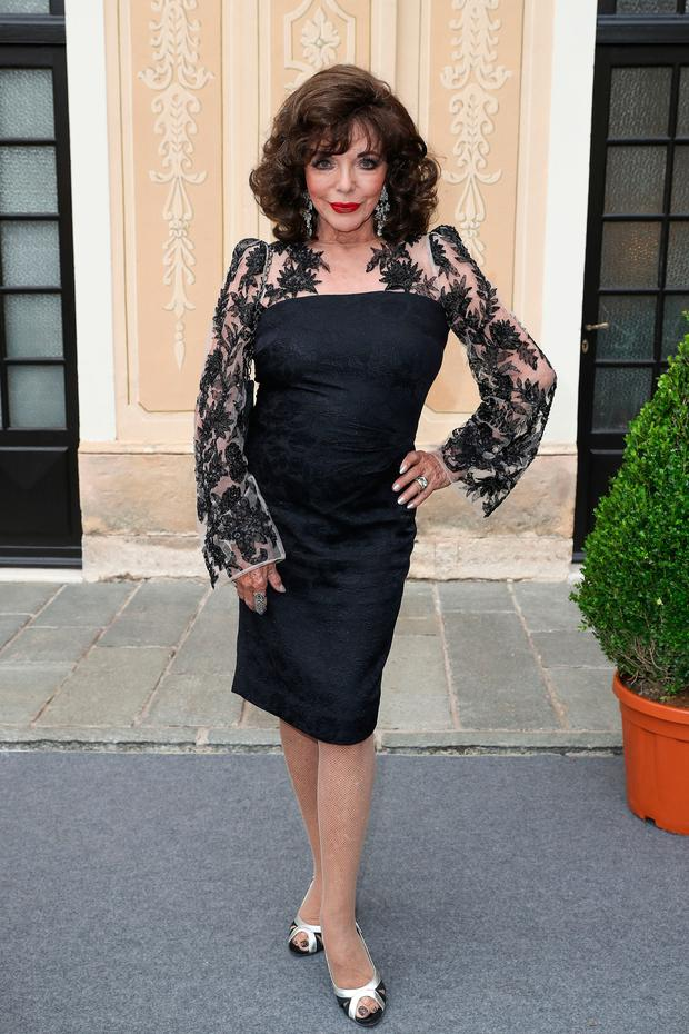 Joan Collins still stylish and stunning earlier this year
