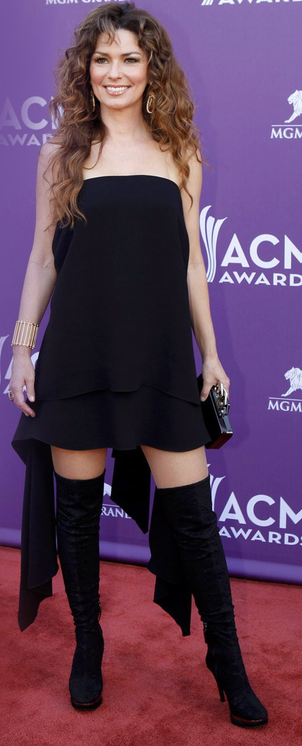 Shania Twain at the ACM Awards in Las Vegas