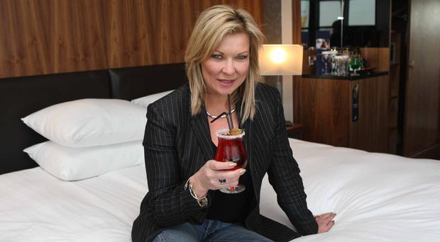 Claire King on a previous visit to Belfast in the Hilton Hotel