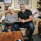 Paul Hollywood with his mother Jill at his childhood home in Merseyside in A Baker's Life