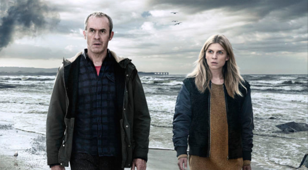 Stephen Dillane and Clémence Poésy in The Tunnel
