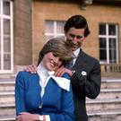 Diana and Charles with the ring that Prince William gave Kate upon their engagement