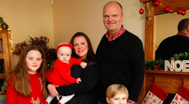 Kerry with her family at Christmas