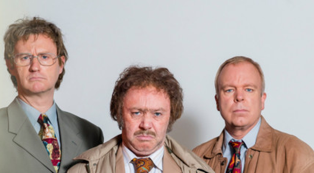 Mark Gatiss as Brian Morgan, Reece Shearsmith as Geoff Tipps and Steve Pemberton as Mike Harris
