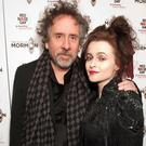 Carter with former partner Tim Burton