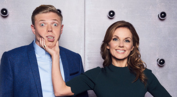 Geri Horner with Rob Beckett in All Together Now
