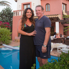 Gerry and Debby Armstrong at their villa in Majorca