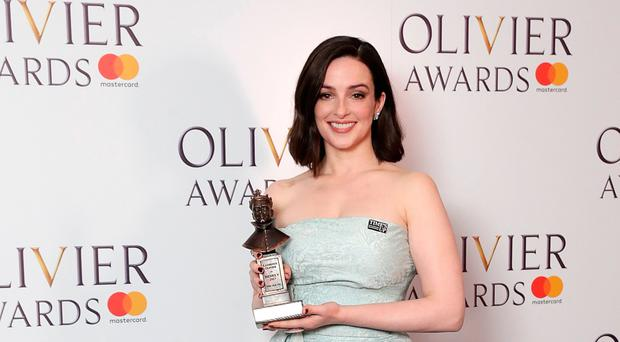 Laura with her Olivier Award