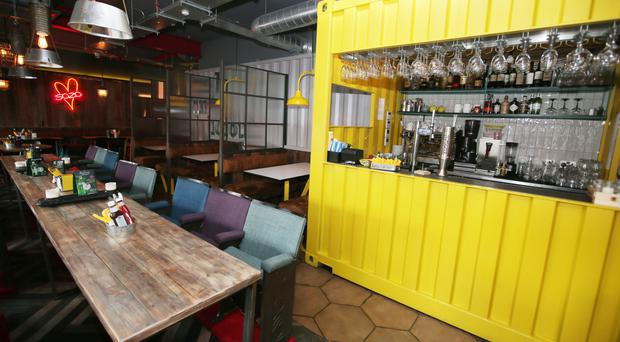 The dining area and bar at SoZo