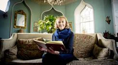 Daphne Montgomery relaxes at her Greyabbey home