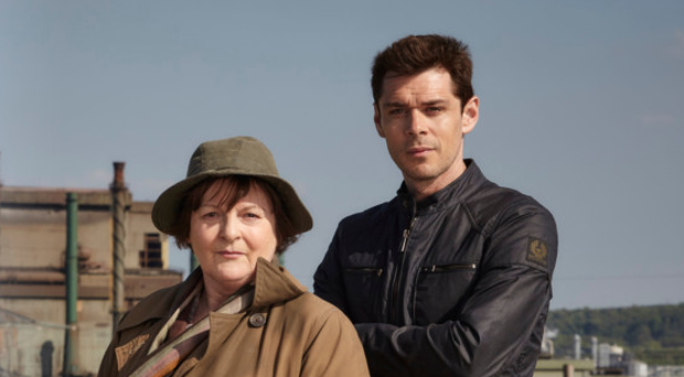 Brenda Blethyn as DCI Vera Stanhope and Kenny Doughty as DS Aiden Healy