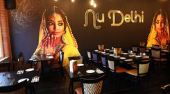 A picture of a Bollywood actress at the Nu Delhi restaurant on Belfast's Great Victoria Street