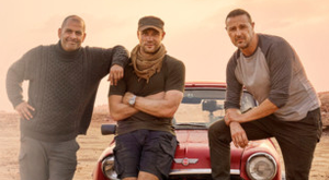 Top Gear's new presenters (from left) Chris Harris, Andrew Flintoff and Paddy McGuinness