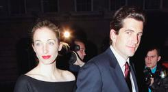 John F Kennedy Jnr and his wife Carolyn Bessette in 1999