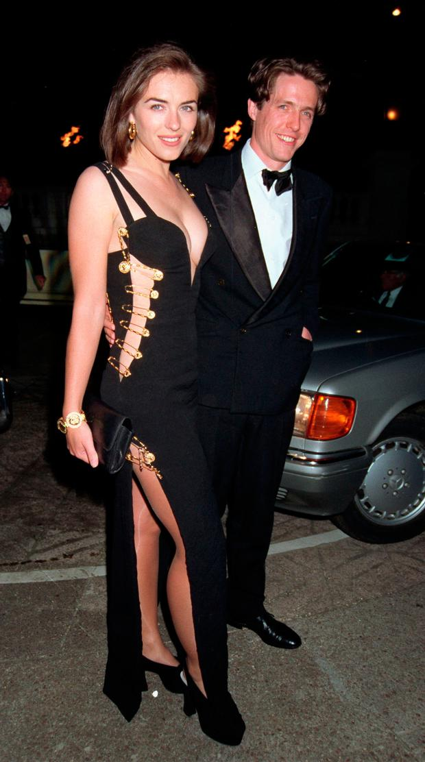 Liz Hurley and Hugh Grant in the 1990s