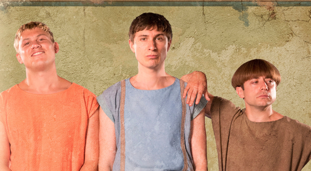 Jon Pointing, Tom Rosenthal and Ryan Sampson in Plebs