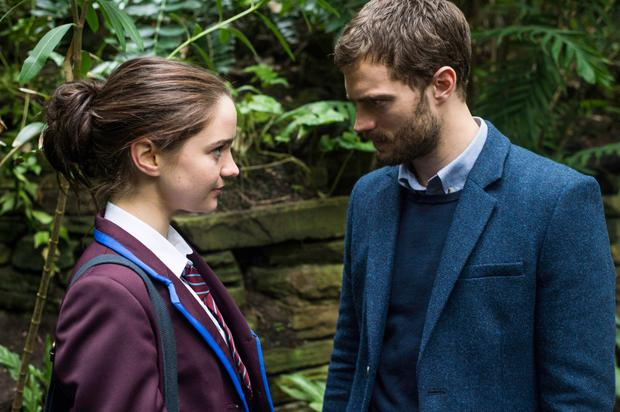 Aisling as an obsessed teen in The Fall with co-star Jamie Dornan