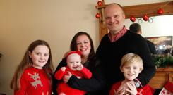 Kerry and Ralph McLean getting festive with their children