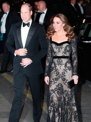 Kate and William arrive for the Royal variety Performance